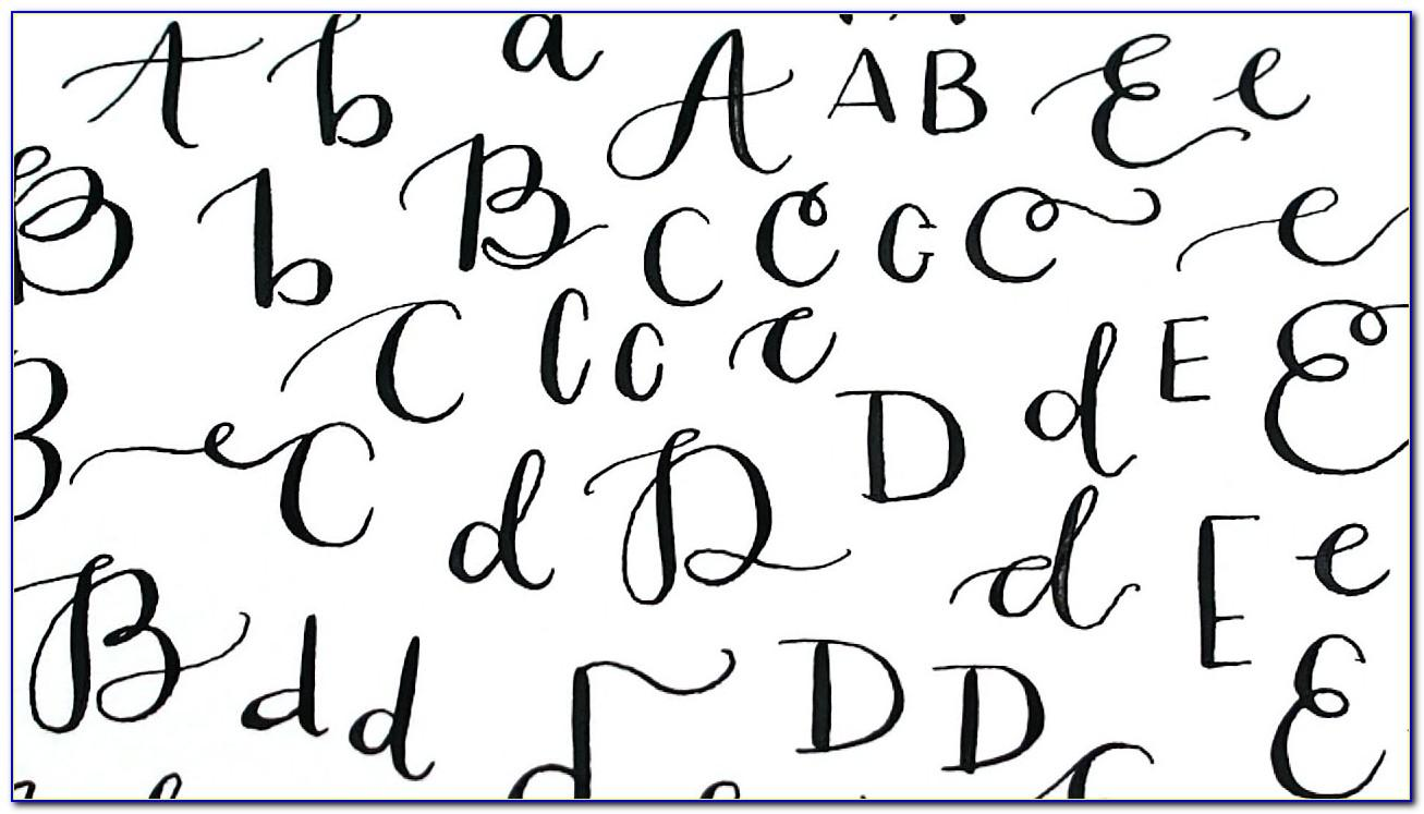 Calligraphy Letters Free Printables