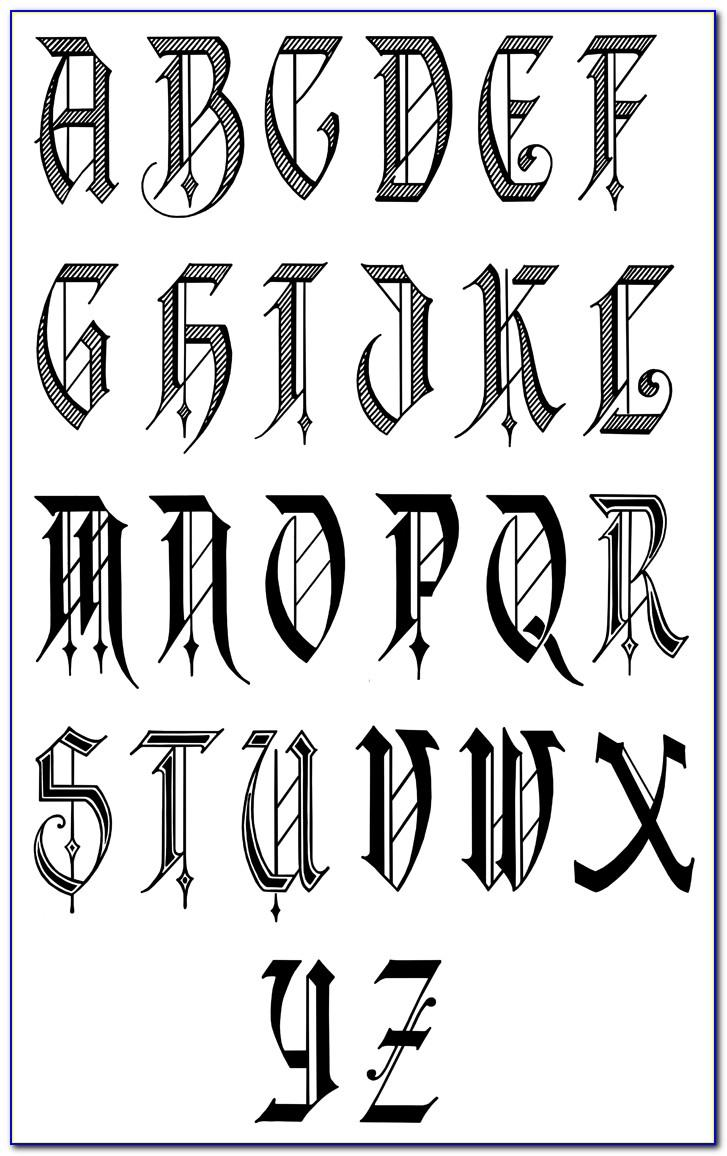 Calligraphy Letters Printables