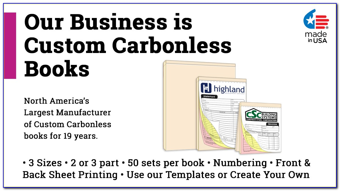 Carbonless Receipt Book Printing