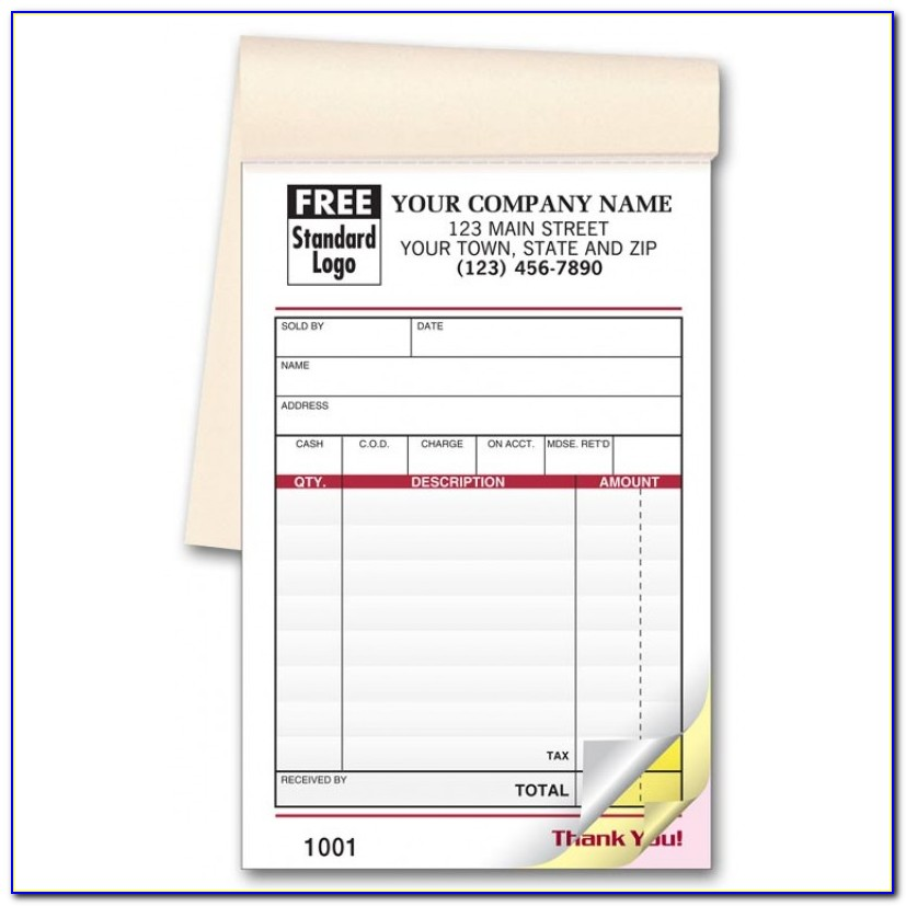 Carbonless Receipt Books Custom