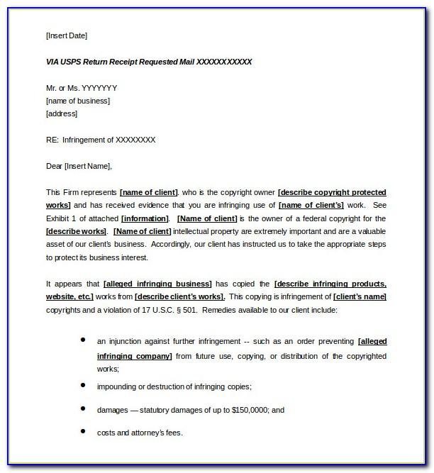 Cease And Desist Letter Sample Slander