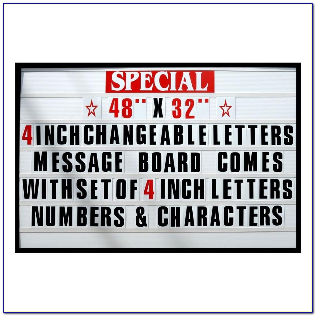 Cheap Outdoor Changeable Letter Signs