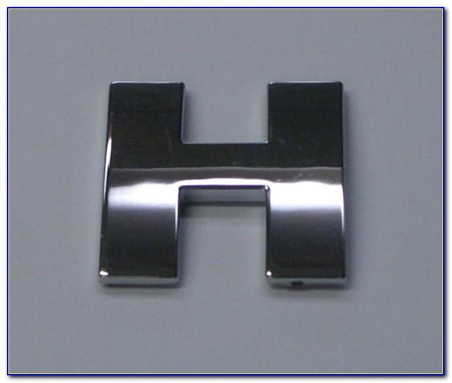 Chrome Car Badge Letters