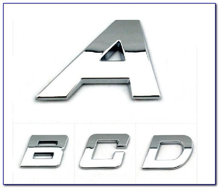 Chrome Car Emblem Letters