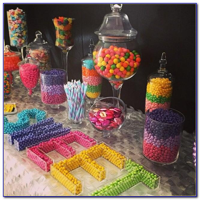 Clear Letter Candy Dishes