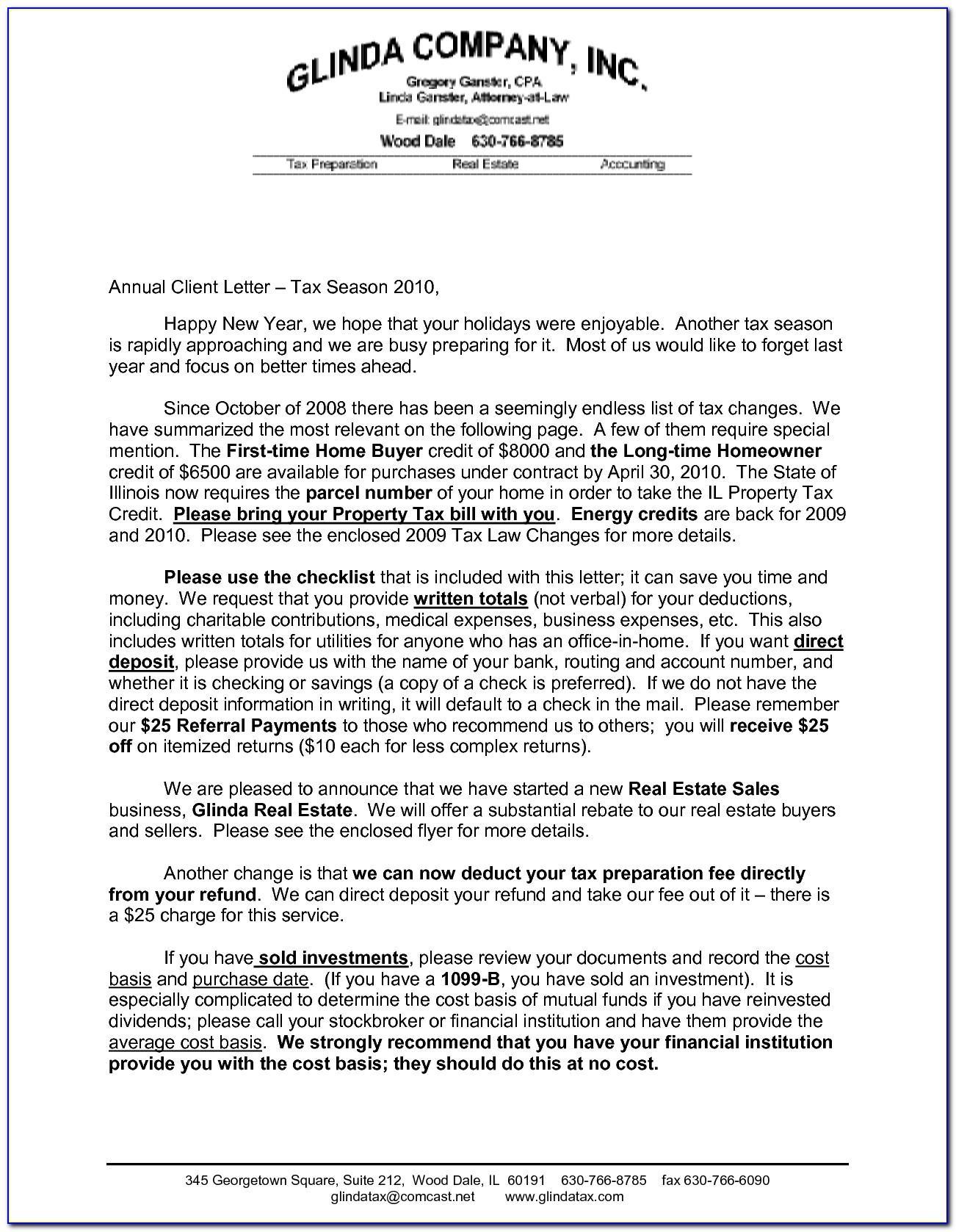 Client Letter For H1b Amendment