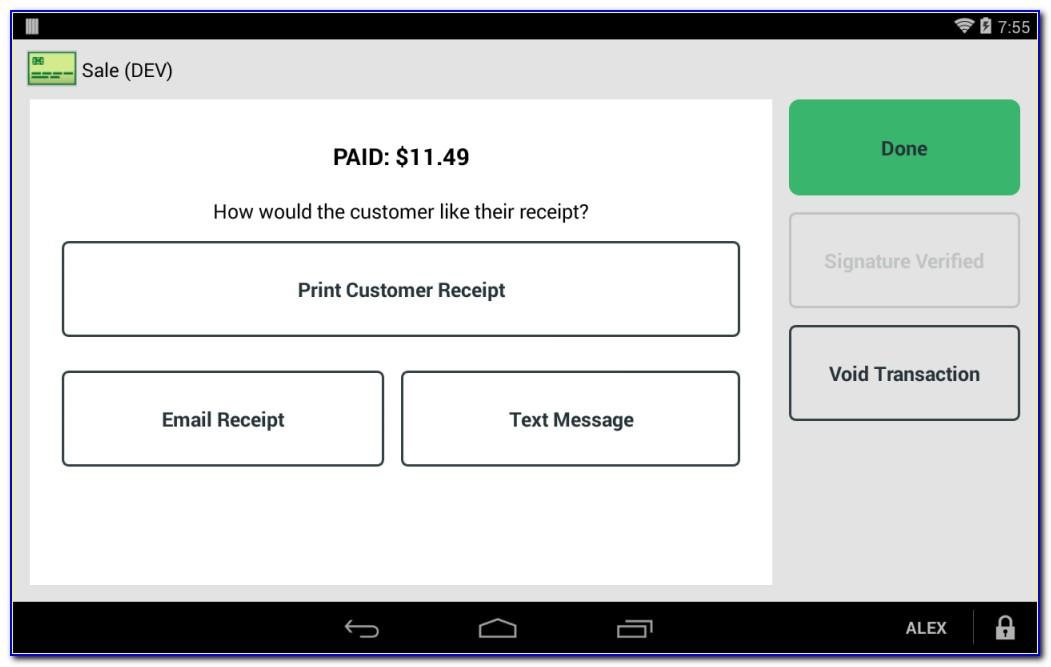 Clover Go Invoice App