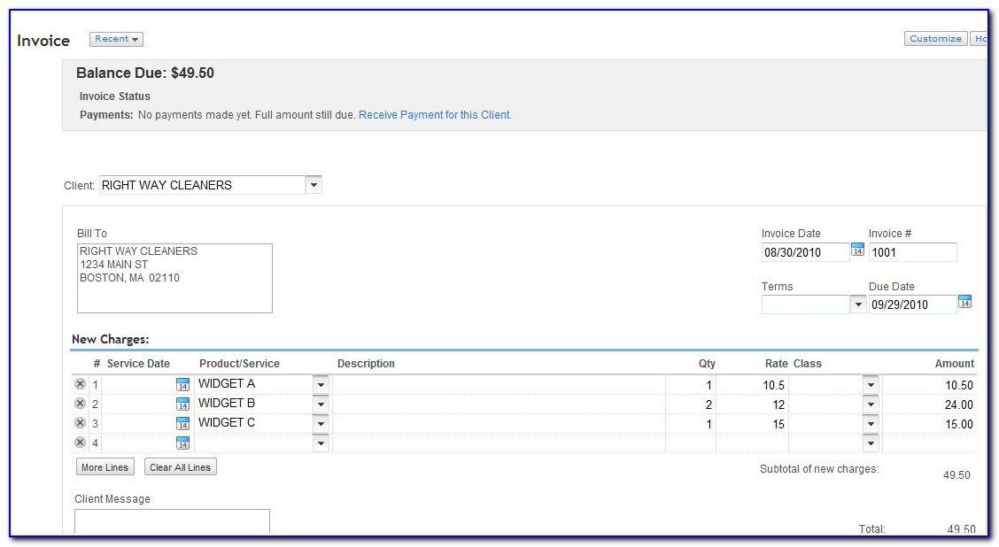 Copy Quickbooks Invoice Template Another Company