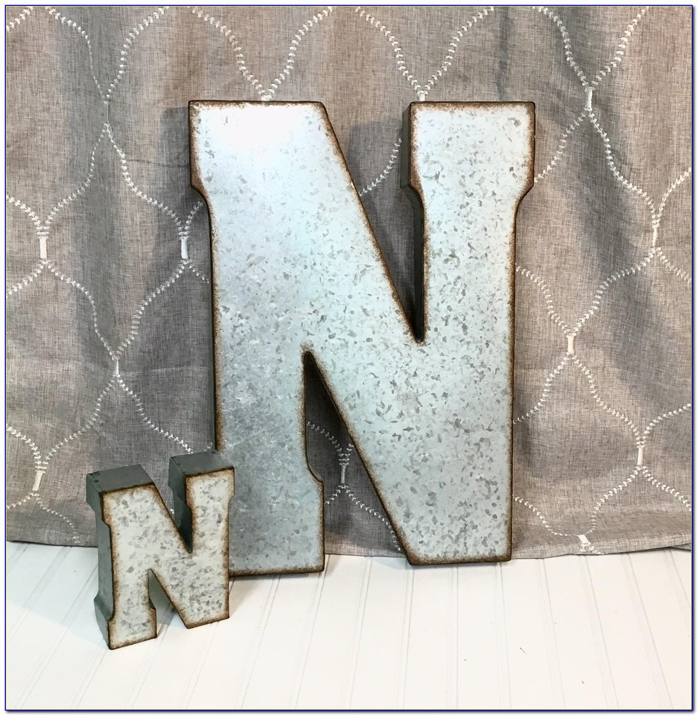 Corrugated Metal Letter Wall Decor