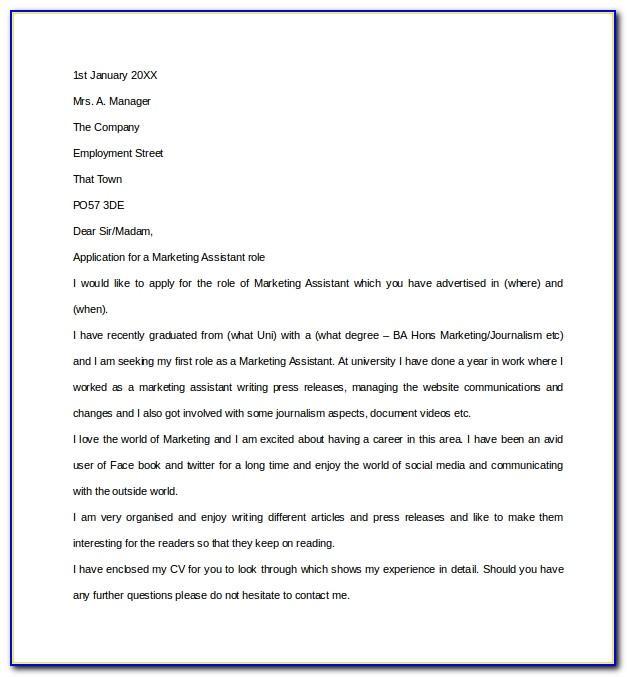 Cover Letter For Graduate Assistantship Position Sample