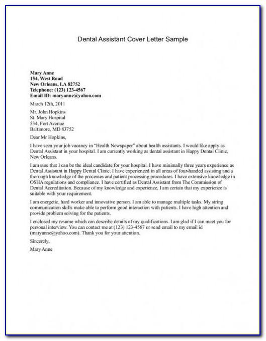 Cover Letter For Internal Position Examples