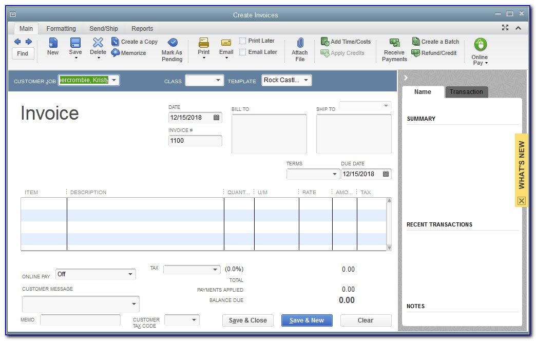 Create Invoice From Estimate In Quickbooks Online