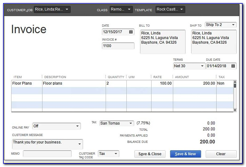Create Invoice Template In Quickbooks Online