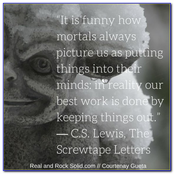 Cs Lewis Screwtape Letters Houston