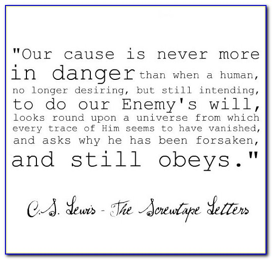 Cs Lewis Screwtape Letters Quotes