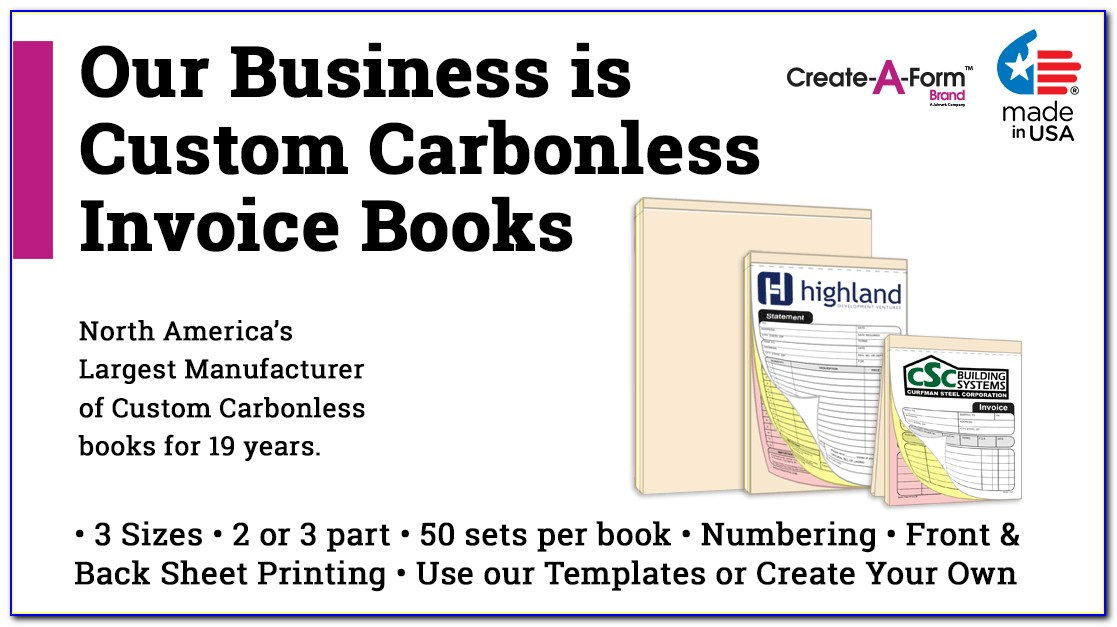 Custom Carbon Invoice Book