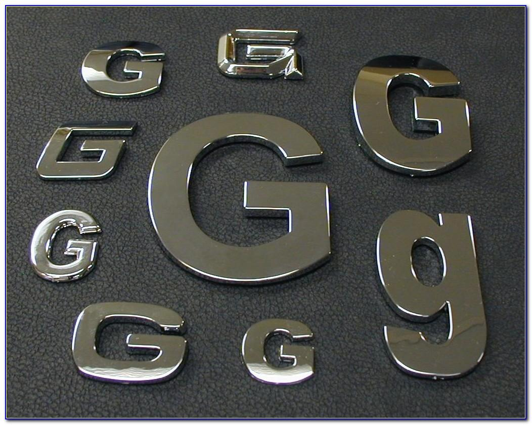Custom Chrome Car Letters