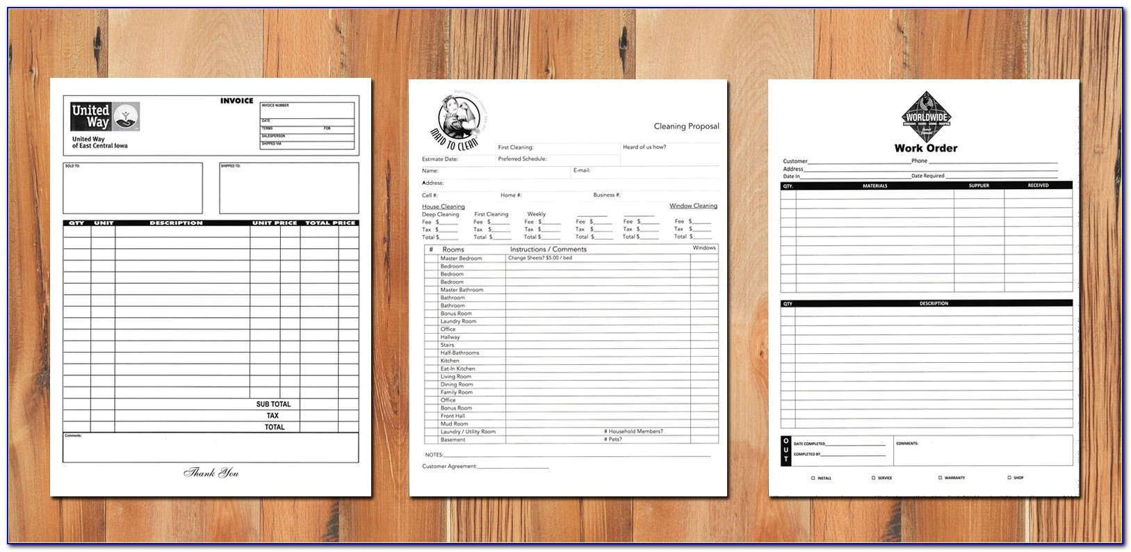 Custom Printed Carbonless Receipt Books