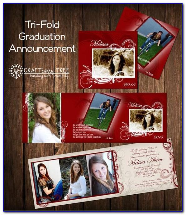 Custom Tri Fold Graduation Announcements