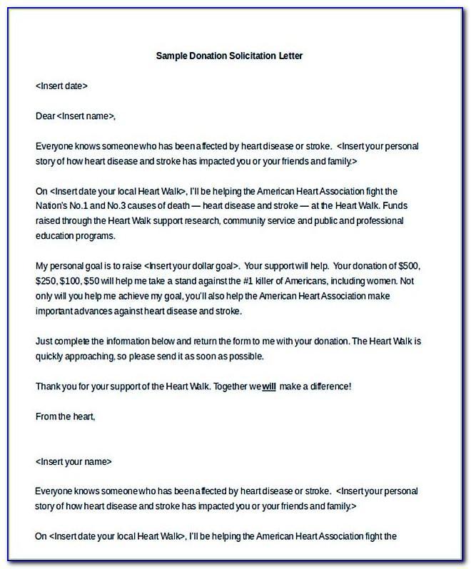 Donation Letter Format Doc