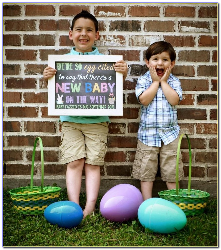 Easter Baby Announcement Ideas