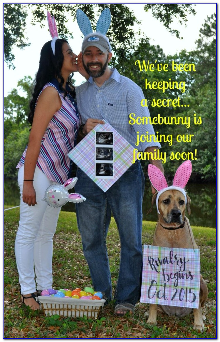 Easter Baby Announcement Template