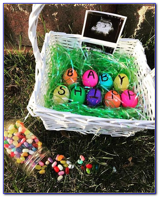 Easter Bunny Baby Announcement