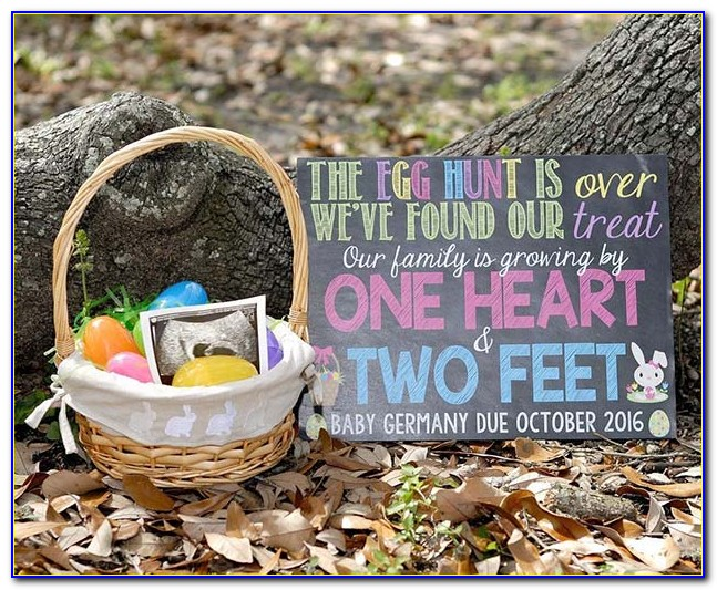 Easter Themed Baby Announcement