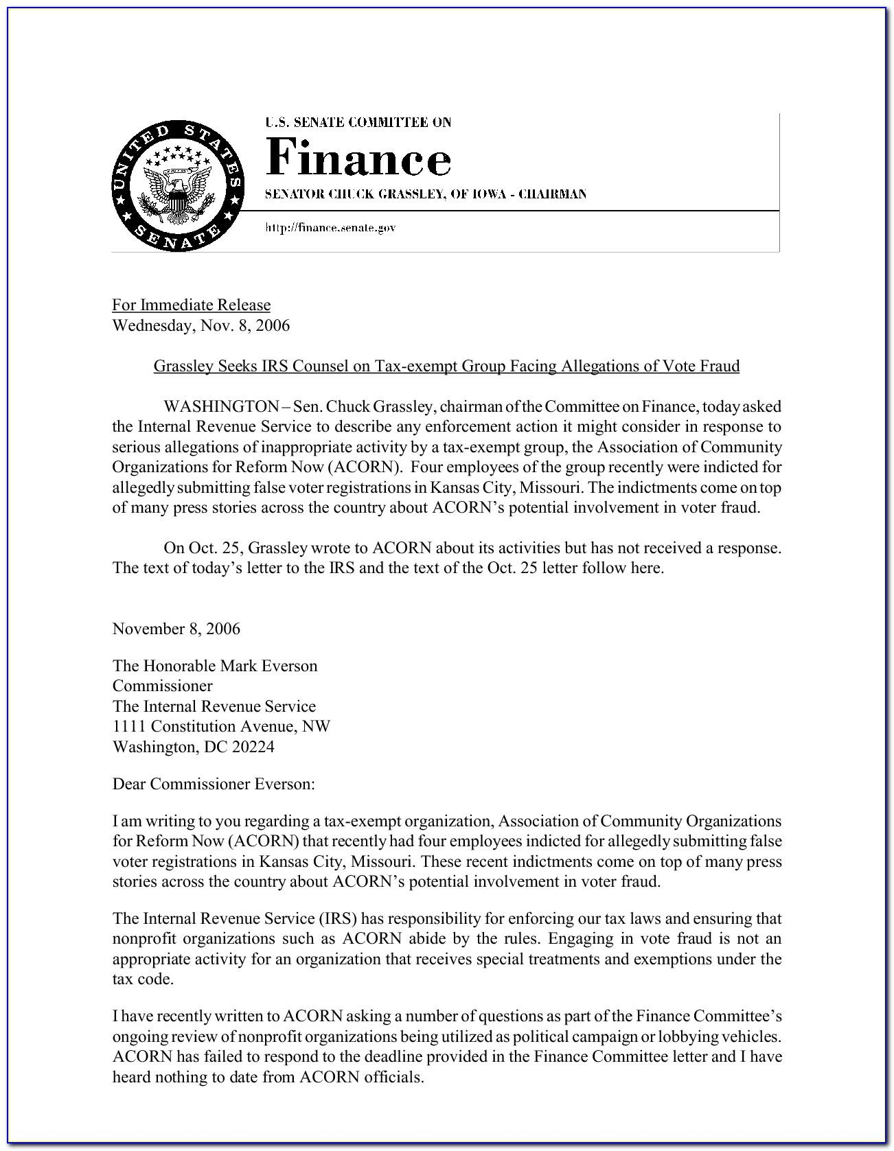 Example Of Irs Hardship Letter