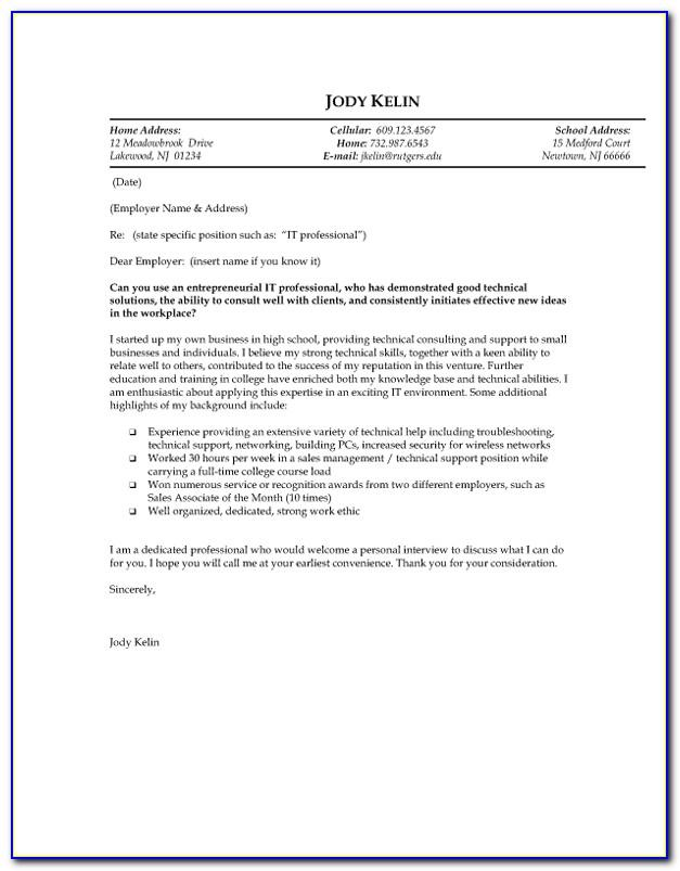 Example Of Resignation Letter For Teachers