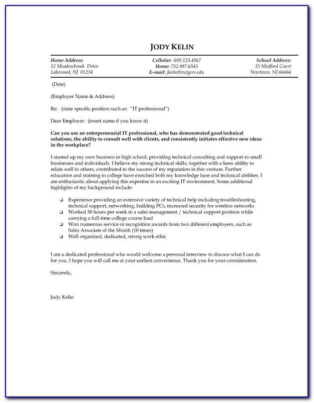 Example Of Resignation Letter For Teachers