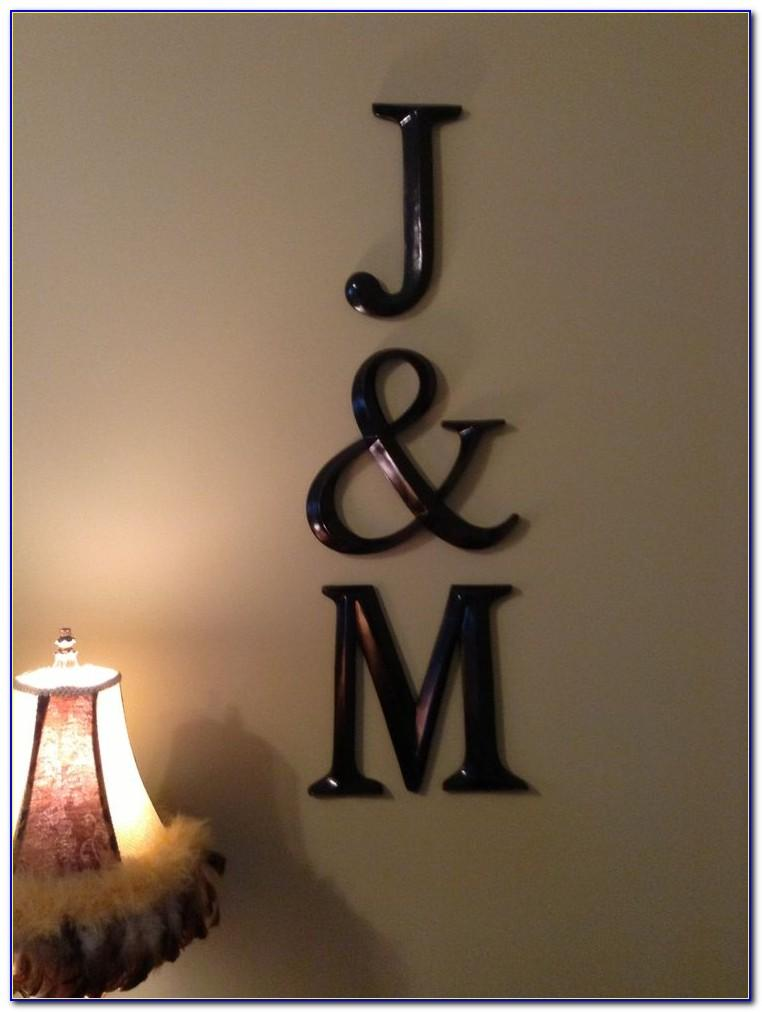 Extra Large Letter M Wall Decor