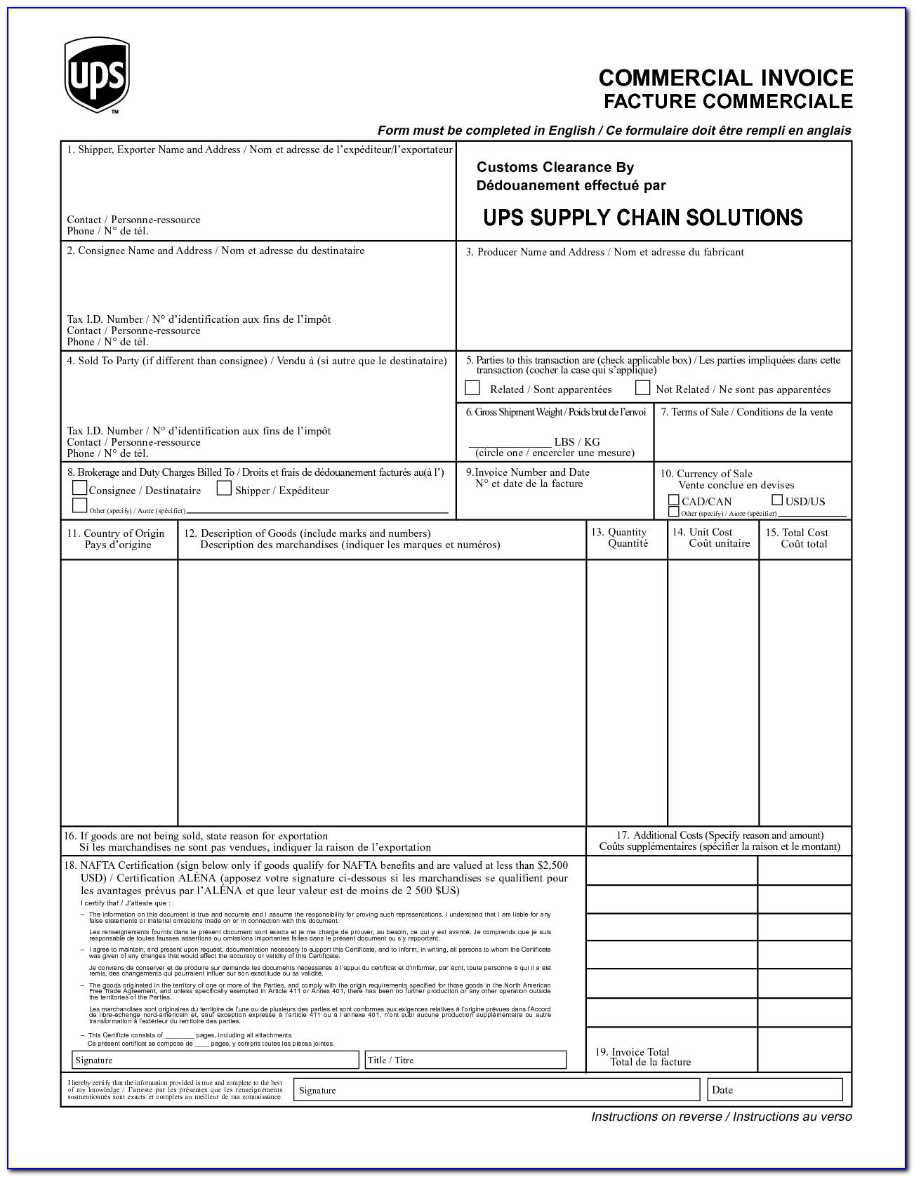 Fedex Commercial Invoice Fillable Online