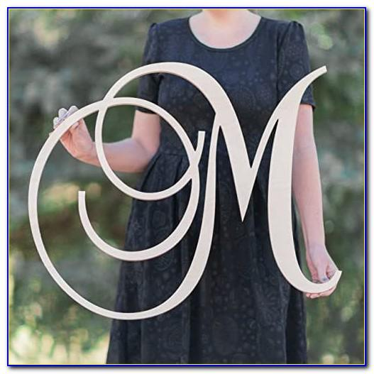 Floral Letter M Wall Decor
