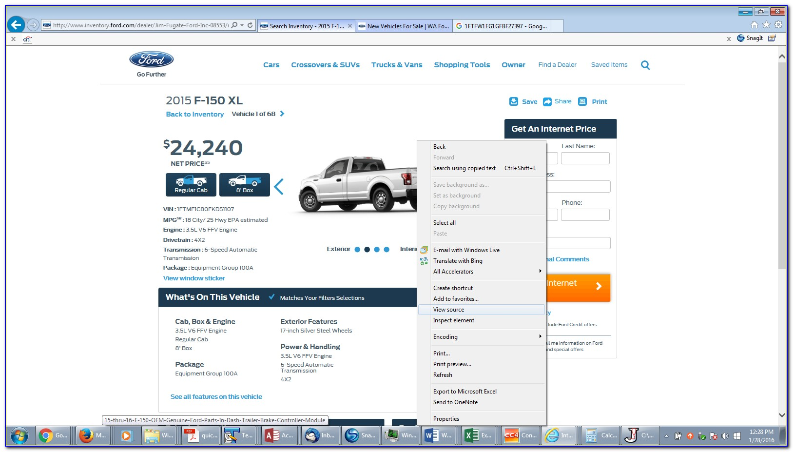 Ford F 150 Dealer Invoice Price