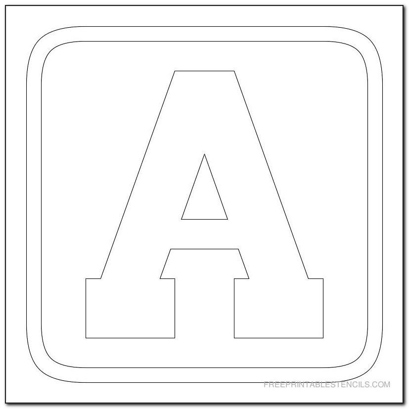 Free Block Letter Stencils