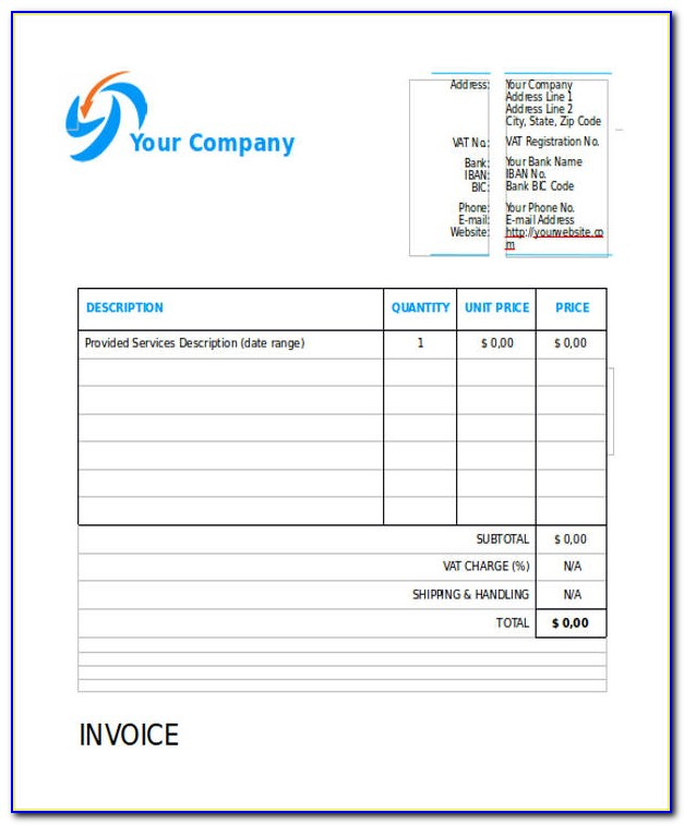 Free Invoice Template Aynax