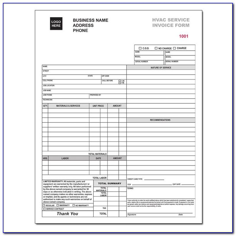 Free Invoice Template Photography