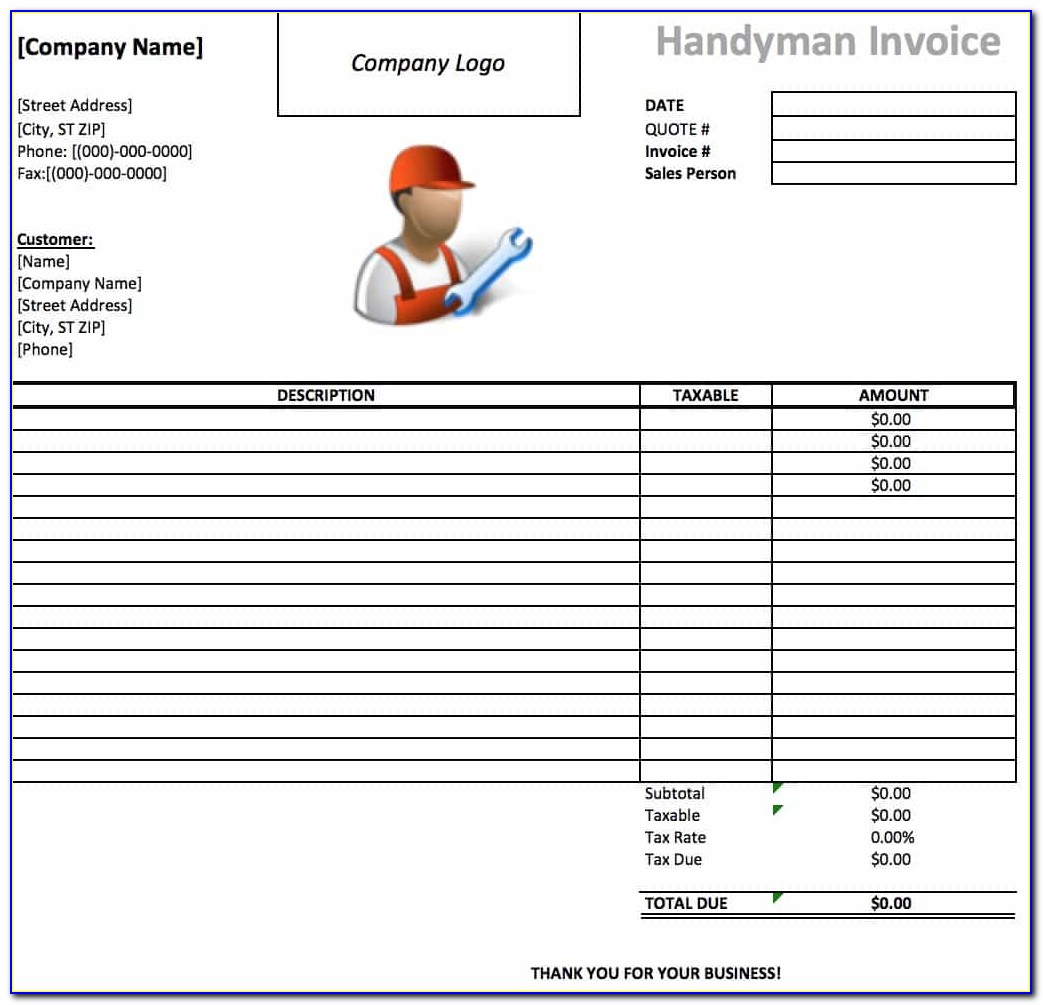 Free Printable Lawn Service Invoice