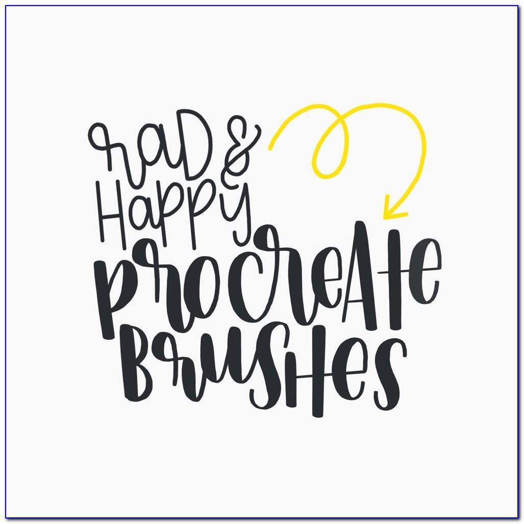 Free Procreate Brush Lettering Brushes