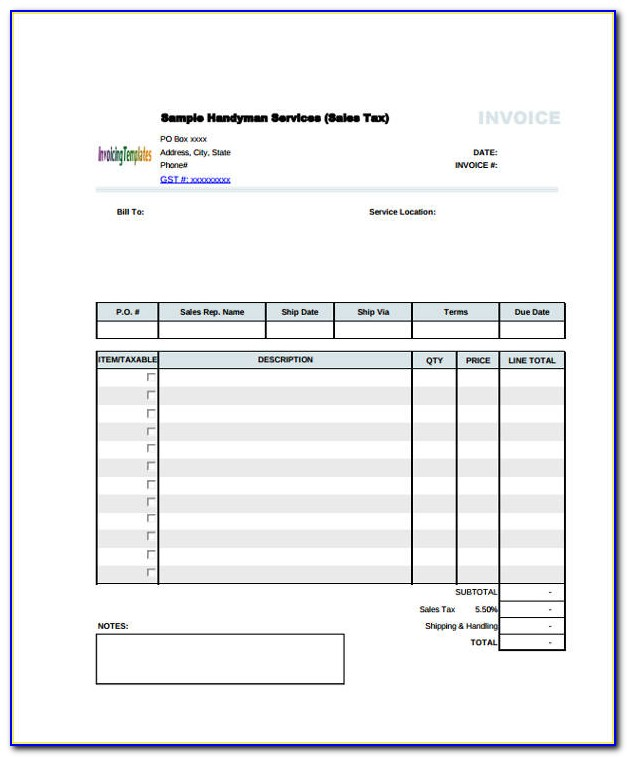 Free Proforma Invoice Template Xls