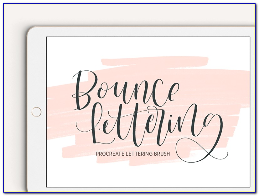 Free Watercolor Lettering Brushes Procreate