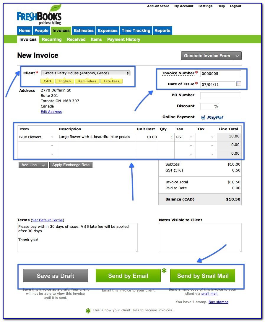 Freshbooks Free Invoice Creator