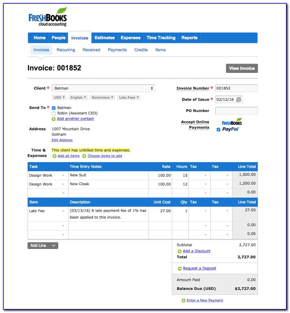 Freshbooks Invoice Fee