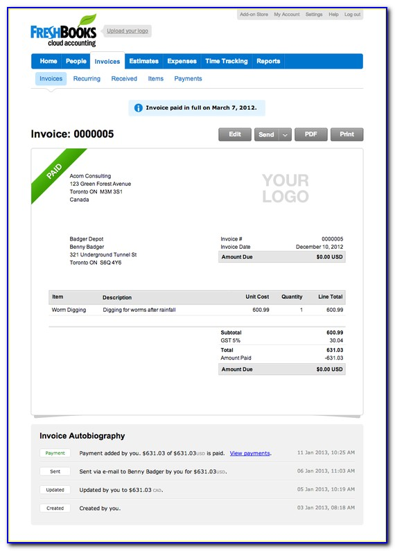 Freshbooks Invoice Pricing