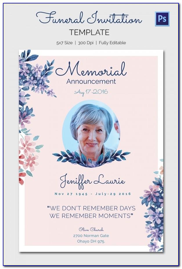 Funeral Invite Template Free