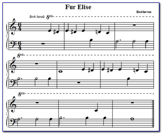 Fur Elise Piano Letter Notes