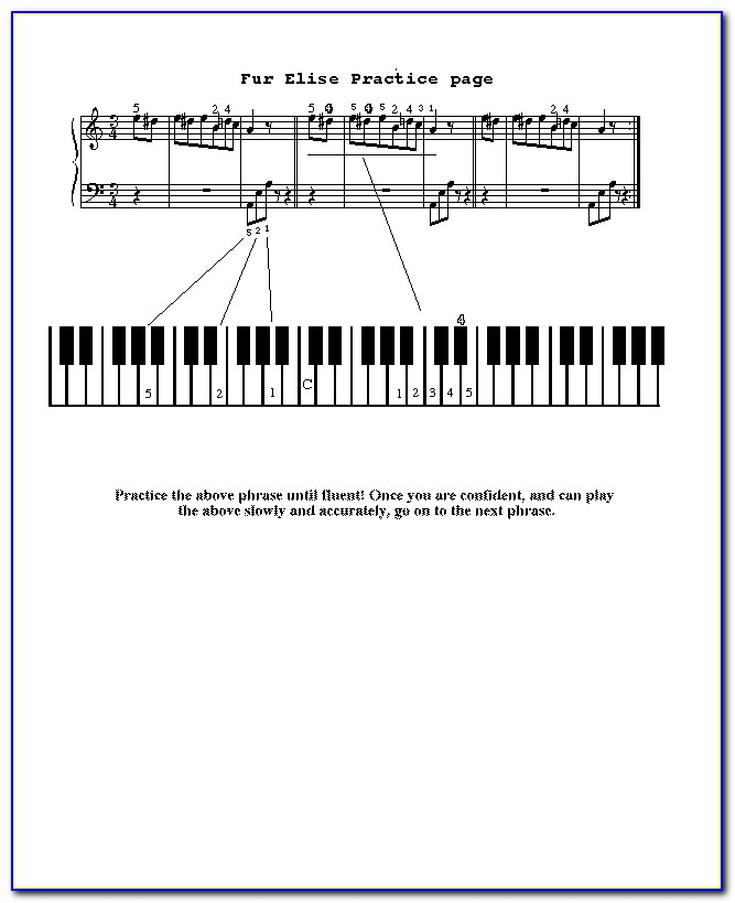 Fur Elise Piano Note Letters