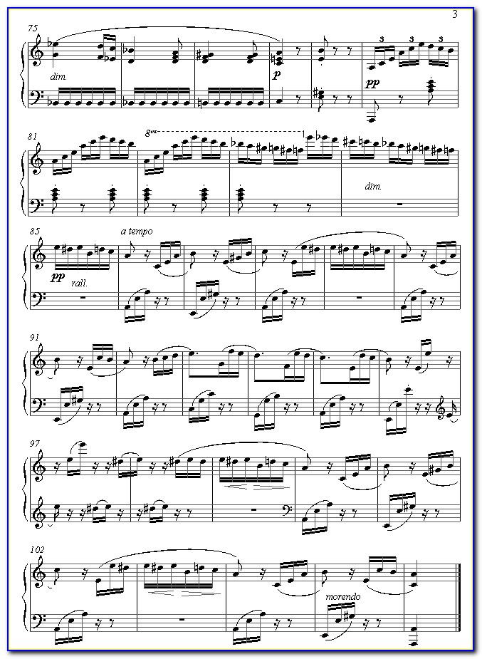 Fur Elise Piano Notes With Letters Pdf