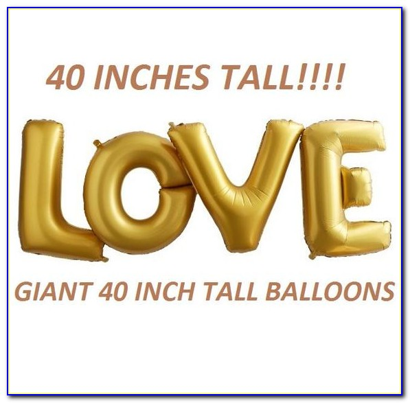 Gold Letter Balloons Helium
